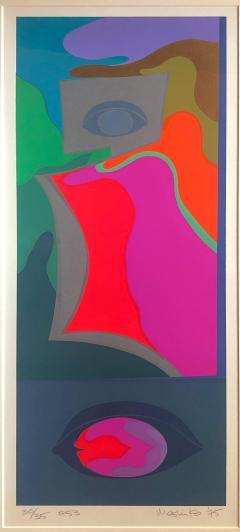 Mashiko Japanese Abstract Expressionist Serigraphs Signed Numbered Mashiko  - 1369060