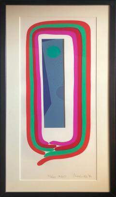 Mashiko Japanese Abstract Expressionist Serigraphs Signed Numbered Mashiko  - 1369063