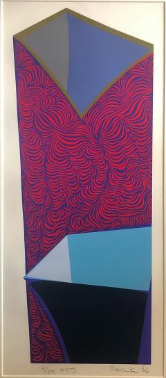Mashiko Japanese Abstract Expressionist Serigraphs Signed Numbered Mashiko  - 1369065
