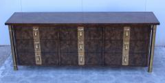 Mastercraft 1970s Nine Drawer Elm Burlwood Dresser By Mastercraft With Brass Hardware - 1828198