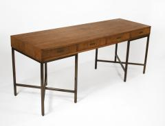 Mastercraft 1970s Oil Rubbed Bronzed and Speckled Ash Writing Desk by Mastercraft - 1148546