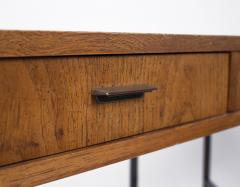 Mastercraft 1970s Oil Rubbed Bronzed and Speckled Ash Writing Desk by Mastercraft - 1148549