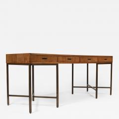Mastercraft 1970s Oil Rubbed Bronzed and Speckled Ash Writing Desk by Mastercraft - 1149037
