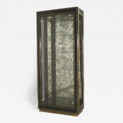 Mastercraft 3 American Mid Century Modern Ebonized Metal and Brass Trimmed Vitrine Cabinets - 470487