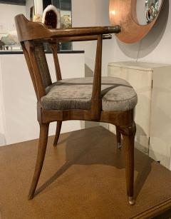 Mastercraft A Rare Pair of Walnut Arm Chairs by Mastercraft - 1821318