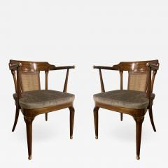 Mastercraft A Rare Pair of Walnut Arm Chairs by Mastercraft - 1821639