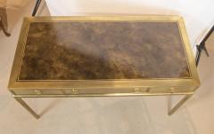 Mastercraft Brass and Leather Campaign Style Desk by Bernard Rohne - 2124440