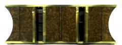 Mastercraft Mastercraft Amboyna Burl and Brass Concave Curve Sideboard - 52668
