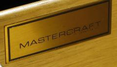 Mastercraft Mastercraft Amboyna Burl and Brass Concave Curve Sideboard - 52672