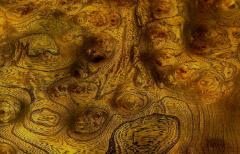 Mastercraft Mastercraft Amboyna Burl and Brass Concave Curve Sideboard - 52673