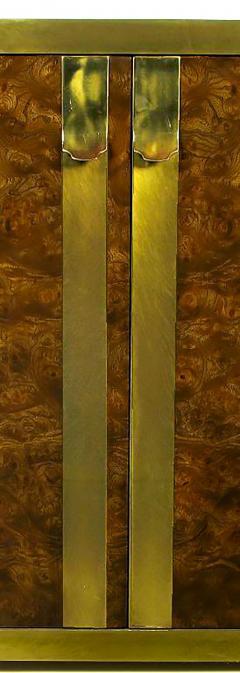 Mastercraft Mastercraft Amboyna Burl and Brass Concave Curve Sideboard - 52674