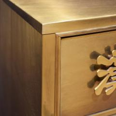 Mastercraft Mastercraft Chest of Drawers in Bronze with Chinese Characters 1970s Signed  - 1921906