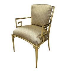 Mastercraft Mastercraft Pair Of Greek Key Lounge Chairs In Brass 1960s - 1302243