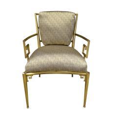 Mastercraft Mastercraft Pair Of Greek Key Lounge Chairs In Brass 1960s - 1302245