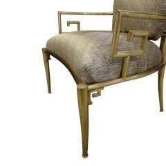 Mastercraft Mastercraft Pair Of Greek Key Lounge Chairs In Brass 1960s - 1302246