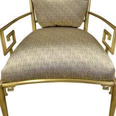 Mastercraft Mastercraft Pair Of Greek Key Lounge Chairs In Brass 1960s - 1302247