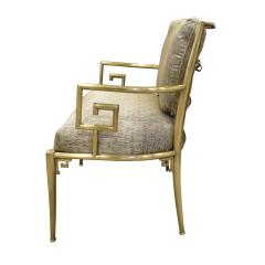 Mastercraft Mastercraft Pair Of Greek Key Lounge Chairs In Brass 1960s - 1302249