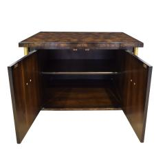 Mastercraft Mastercraft Pair Of Luxurious Bedside Tables In Carpathian Elm And Brass 1960s - 1301910