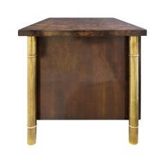 Mastercraft Mastercraft Pair Of Luxurious Bedside Tables In Carpathian Elm And Brass 1960s - 1301911