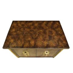 Mastercraft Mastercraft Pair Of Luxurious Bedside Tables In Carpathian Elm And Brass 1960s - 1301913