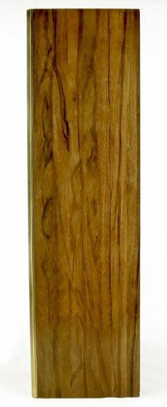 Mastercraft Mastercraft Zebrano Wood and Patinated Brass Tall Wardrobe Cabinet - 82428
