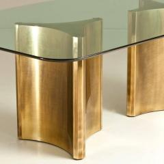 Mastercraft Pair of Brass Triangulate Dining Table Bases by Mastercraft - 903611