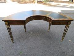 Mastercraft Spectacular Mastercraft Burled Walnut Brass Demi Lune Desk with Matching Chair - 1032280