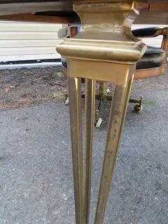 Mastercraft Spectacular Mastercraft Burled Walnut Brass Demi Lune Desk with Matching Chair - 1032284