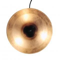 Matlight Milano Bespoke Art Deco Design Italian White Alabaster Bronze Color Round Table Lamp - 1808820