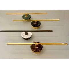 Matlight Milano Bespoke Italian Minimalist Brown Marble Satin Brass Vertical Horizontal Sconce - 1739496