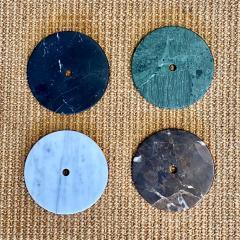 Matlight Milano Bespoke Italian Minimalist Brown Marble Satin Brass Vertical Horizontal Sconce - 1739503