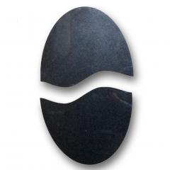 Matlight Milano Bespoke Italian Textured Brass Black Granite Oval Side Table Doubles as a Pair - 2038796