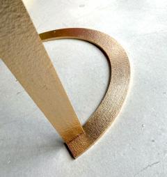 Matlight Milano Bespoke Italian Textured Brass Black Granite Oval Side Table Doubles as a Pair - 2038800