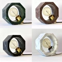 Matlight Milano Contemporary Matlight Essential Octagon Minimalist Table Lamp in Green Marble - 1592108