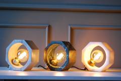 Matlight Milano Contemporary Matlight Essential Octagon Minimalist Table Lamp in Green Marble - 1592110