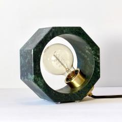 Matlight Milano Contemporary Matlight Essential Octagon Minimalist Table Lamp in Green Marble - 1592111
