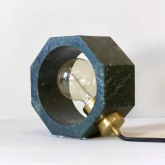 Matlight Milano Contemporary Matlight Essential Octagon Minimalist Table Lamp in Green Marble - 1592112
