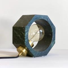 Matlight Milano Contemporary Matlight Essential Octagon Minimalist Table Lamp in Green Marble - 1592114