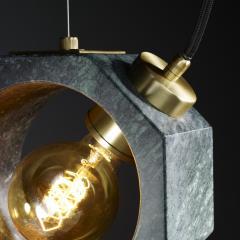 Matlight Milano Contemporary Matlight Essential Octagon Minimalist Table Lamp in Green Marble - 1592115