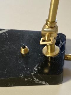 Matlight Milano Custom Italian Mid Century Modern Style Black Marble Brass Adjustable Table Lamp - 2015080
