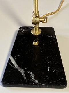 Matlight Milano Custom Italian Mid Century Modern Style Black Marble Brass Adjustable Table Lamp - 2015081