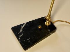 Matlight Milano Custom Italian Mid Century Modern Style Black Marble Brass Adjustable Table Lamp - 2015082