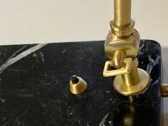 Matlight Milano Custom Italian Mid Century Modern Style Black Marble Brass Adjustable Table Lamp - 2015083
