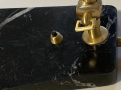 Matlight Milano Custom Italian Mid Century Modern Style Black Marble Brass Adjustable Table Lamp - 2015084