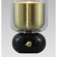 Matlight Milano E Elizarova for Matlight Italian Black Marble Glass and Brass Flute Table Lamp - 1614382