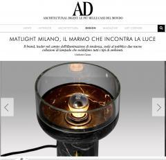 Matlight Milano E Elizarova for Matlight Italian Black Marble Glass and Brass Pendant Light - 1739439