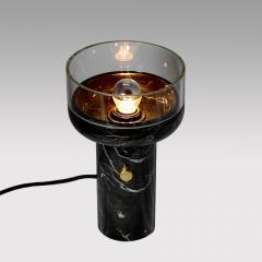 Matlight Milano E Elizarova for Matlight Studio Italian Black Marble and Glass Cup Table Lamp - 1673365