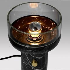 Matlight Milano E Elizarova for Matlight Studio Italian Black Marble and Glass Cup Table Lamp - 1673366