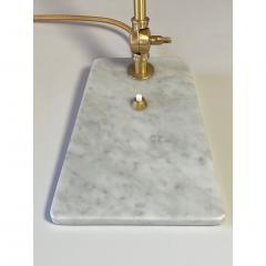Matlight Milano Italian Mid Century Modern Style White Marble Brass Flamingo Desk Table Lamp - 1739333