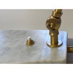 Matlight Milano Italian Mid Century Modern Style White Marble Brass Flamingo Desk Table Lamp - 1739334